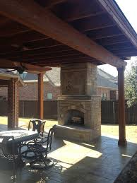 brilliant ideas outdoor fireplace cover amazing flower mound texas patio cover stamped concrete and