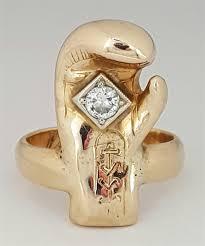 Vending Machine Engagement Ring Unique 48 Golden Gloves Boxing Championship 48K Diamond Ring