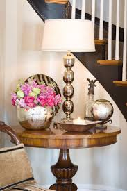 ideas for foyer furniture. foyer table decorated with a mix of chrome u0026 mercury glass ideas for furniture l