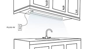 Under cabinet plug in lighting Plug Mold Plugin Light Bar Over The Sink Lamps Plus How To Buy Under Cabinet Lighting Ideas Advice Lamps Plus