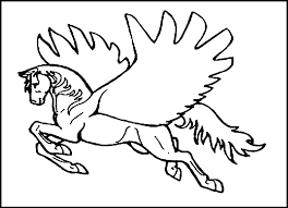 Amazing Christmas Pegasus Coloring Pages Printable Coloring Page