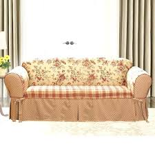 2 piece t cushion sofa slipcover sure fit 2 piece sofa slipcover photo of ultimate heavyweight