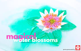 How To Make A Flower Paper A Paper Flower For Kids To Make Magical Water Blossoms