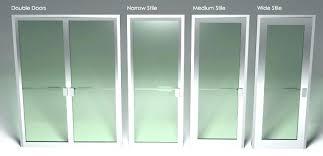commercial glass double doors design iron