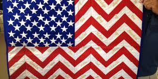 Bob's American Flag Chevron Quilt - Northwest Sewing Center & Bob's American Flag Chevron Quilt Adamdwight.com