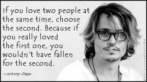 Johnny Depp Love Quotes Enchanting Johnny Depp Quotes If You Love Two People Hover Me