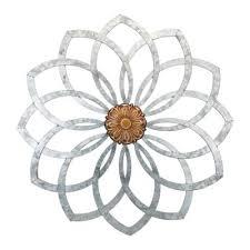 regal galvanized lotus wall decor 12062