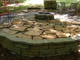 retaining wall flagstone patio