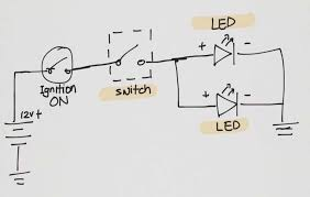 motorcycle hazard lights wiring diagram wiring diagrams motorcycle hazard lights wiring diagram got a pair of these led fog lights for my bike