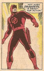 Image result for daredevil 1964 red suit wally wood
