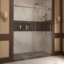 image of frameless sliding glass shower doors
