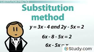 how to substitute equations math solving a system of equations with two unknowns lesson transcript substitution linear equations math