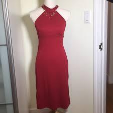 Iz Byer California Dress Size Chart Iz Byer California Red Halter Dress Size S