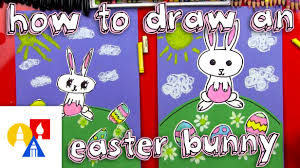 Art For Kids How To Draw A Cartoon Easter Bunny Art For Kids Hub