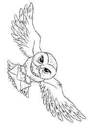 Owl Harry Potter Coloring Pages Color Online Free Printable