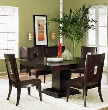 Impeccable Home Dining Room Design Interior Feat Pleasant Dark - Dark wood dining room tables