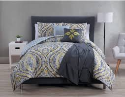 avondale manor yellow and gray bedding set for contemporary bedroom