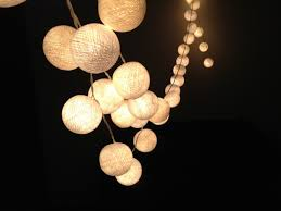 Lighting:DIY LED String Light Decoration For Christmas Cool DIY White  Cotton Ball String Lights