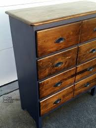 staining a dresser. Simple Staining Navy Blue Stained Chest Of Drawers For Staining A Dresser