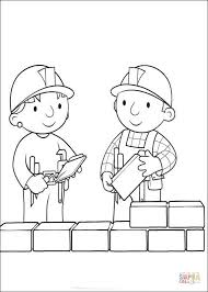 Small Picture Wendy Helps Bob To Build The Wall coloring page Free Printable