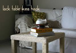 Rope wrapped Coffee Table. Refashion your Lack coffee table from IKEA by  wrapping both the