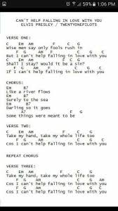 Cant Help Falling In Love Ukulele Music Chords More Guitar