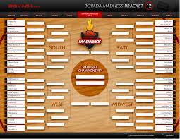 Bracket For Ncaa Basketball Tournament Download 2012 College Basketball Tournament Printable Bracket