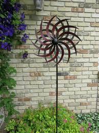 metal wind catcher wind spinner metal in tall in head garden yard decor windmill lawn new