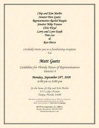 Fundraising Invitation Samples Political Fundraiser Flyer Political Fundraiser Invitation Wording 1