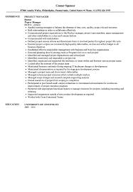Project Manager Resume Sample   Velvet Jobs