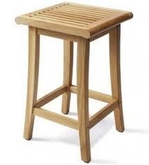 New Grade A Teak Wood Garden Patio Bar Stool / Chair