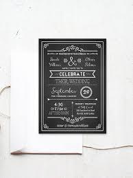 diy wedding invitation template. chalkboard style diy wedding invitation template diy
