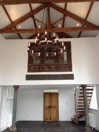 meval style barn chandelier by ironart of bath