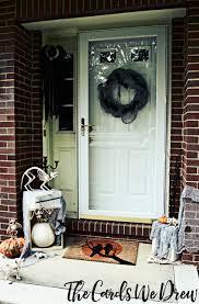 halloween front door decorationsEasy Halloween Front Door Decor from The Cards We Drew
