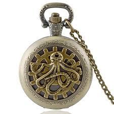 aliexpress com buy steampunk octopus pendant antique bronze steampunk octopus pendant antique bronze pocket watch mens women quartz watches vintage jewelry necklace chain retro