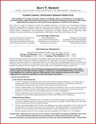 Investment Banking Resume Template Template Of Business Resume
