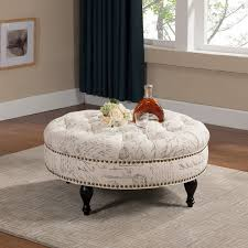 ... Coffee Table, Round Tufted Coffee Table Ottoman Round Tufted Ottoman  Coffee Table Round Tufted Leather ...