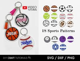 15 svg files 15 png files 15 jpg files keychain pictured is for Keychain Pattern Sports Graphic By Diy Craft Tutorials Creative Fabrica