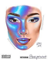 James Face Chart Digitally Drawn August 10 2018 This Is My Sister