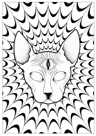 Small Picture Psychedelic Coloring pages for adults JustColor