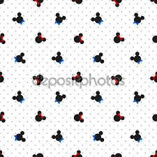 ✅ Seamless pattern with symbol of mickey mouse premium vector in Adobe  Illustrator ai ( .ai ) format, Encapsulated PostScript eps ( .eps ) format