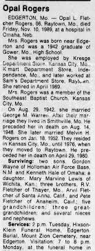 Opal Lucille Fletcher Rogers (1923-1989) - Find A Grave Memorial