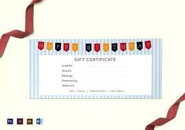 Blank Gift Certificates Templates Sample Birthday E Ft