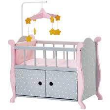 olivia s little world baby doll furniture nursery crib bed with storage