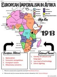 european imperialism in africa map handout tpt european imperialism in africa map handout