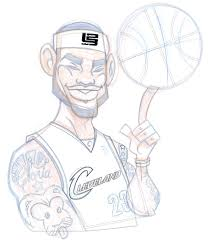 how to ilrate a lebron james cartoon character