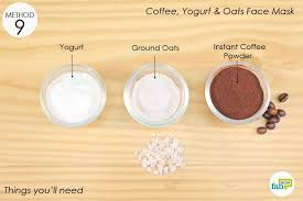 things needed to make the coffee face mask