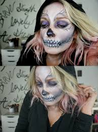 how to do a skeleton makeup look that is a little glam