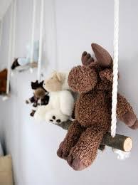 stuffed animals display on kids wall stick swing
