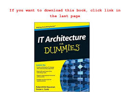 Action Plan In Pdf Amazing PDF] It Architecture For Dummies R Full